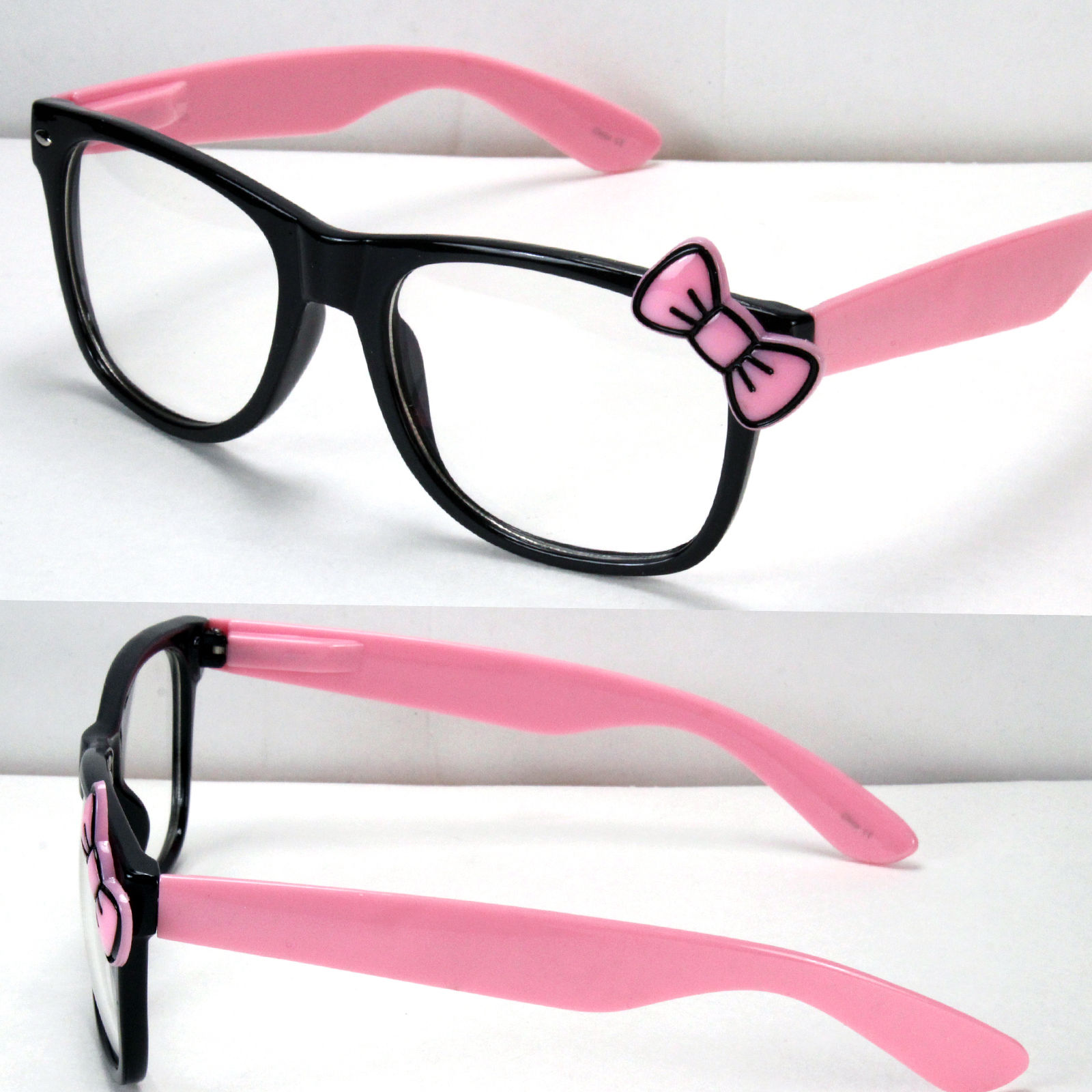 1b07a3deadb Women Clear Lens Frame Eye Glasses Bow Bowknot Hello Kitty Party Fashion  Kk475 - Buy Sunglasses