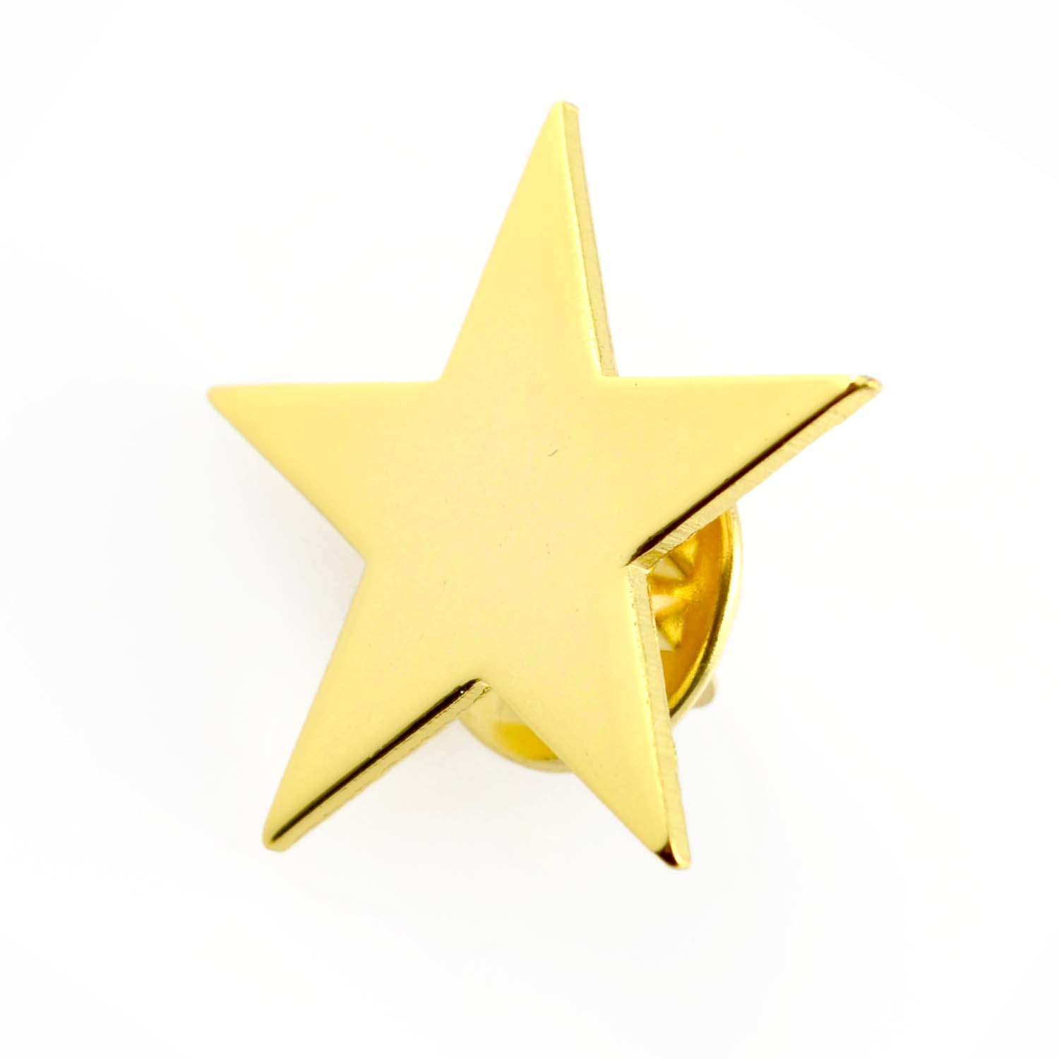 Promotion metal gold five star shape custom-made sports logo lapel pin