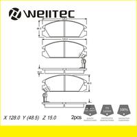 Car parts manufacturer directly sells brake pad GDB925 / 45022-SE0- 315