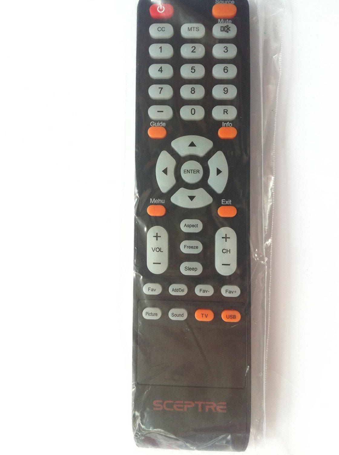 Brand New SCEPTRE LCD LED TV REMOTE for SCEPTRE X425BV-FHD3 X328BV-FHD X325BV-FHDU X325BV-FHD E195BD-SHD E165BD-HD E165BD-HD E240_FHD SCEPTRE E Series LED HDTV E243 E243BD-FHD E245BD-FHD E245BV-FHD E240 E240BC-FHD E195BV-SHD E245BV-FHD E243PV-FHD E325BV-HDC E325BD-HD X325BV-FHD LCD LED TV---Sold by