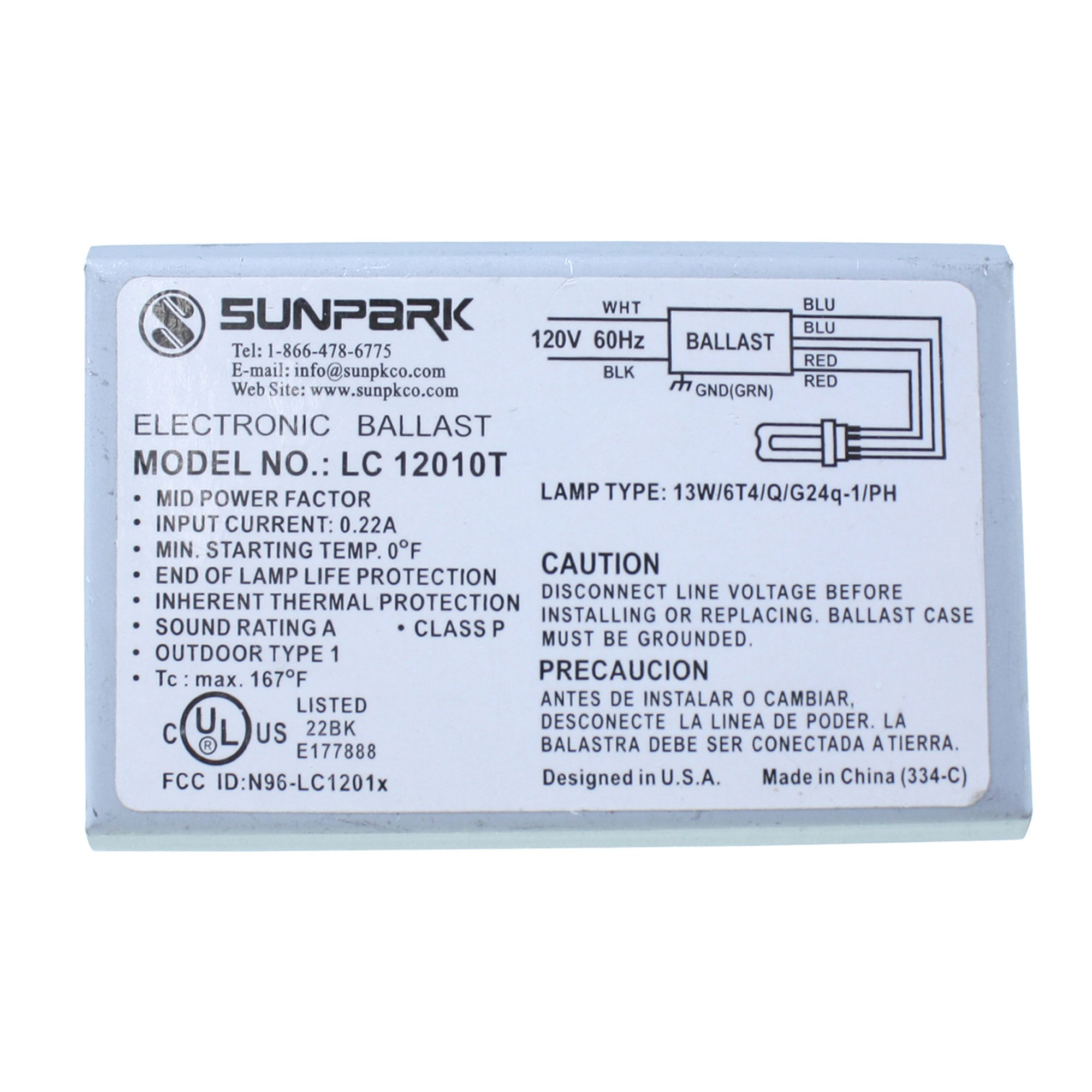 Cheap Quad Tube Cfl Find Deals On Line At Alibabacom Electronic Ballast Circuit Get Quotations Sunpark Lc12010t For One 13w Or Triple 4 Pin By