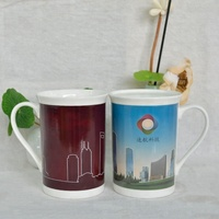 Creative sublimation magic color changing white porcelain milk mug as giveaways gift