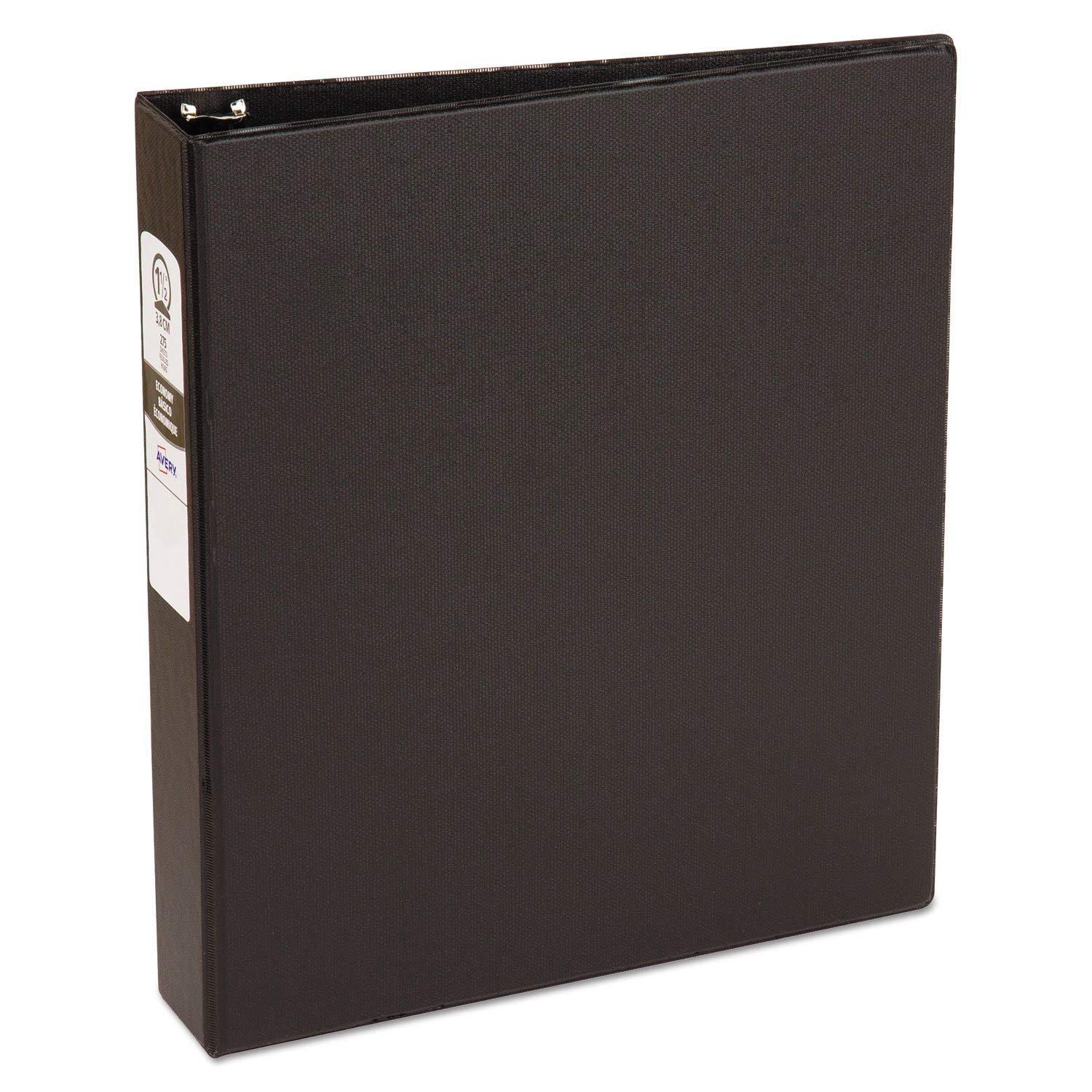 """Economy Non-View Binder with Round Rings, 11 X 8 1/2, 1 1/2"""""""" Capacity, Black"""