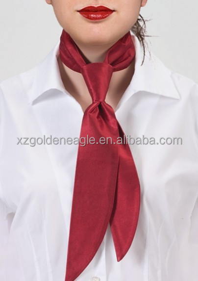 100% Silk Bright Cherry Red Women's Necktie Scarf silk ties