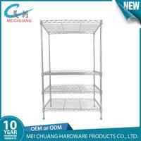 Durable household organized chrome wire shelving/shelf/rack