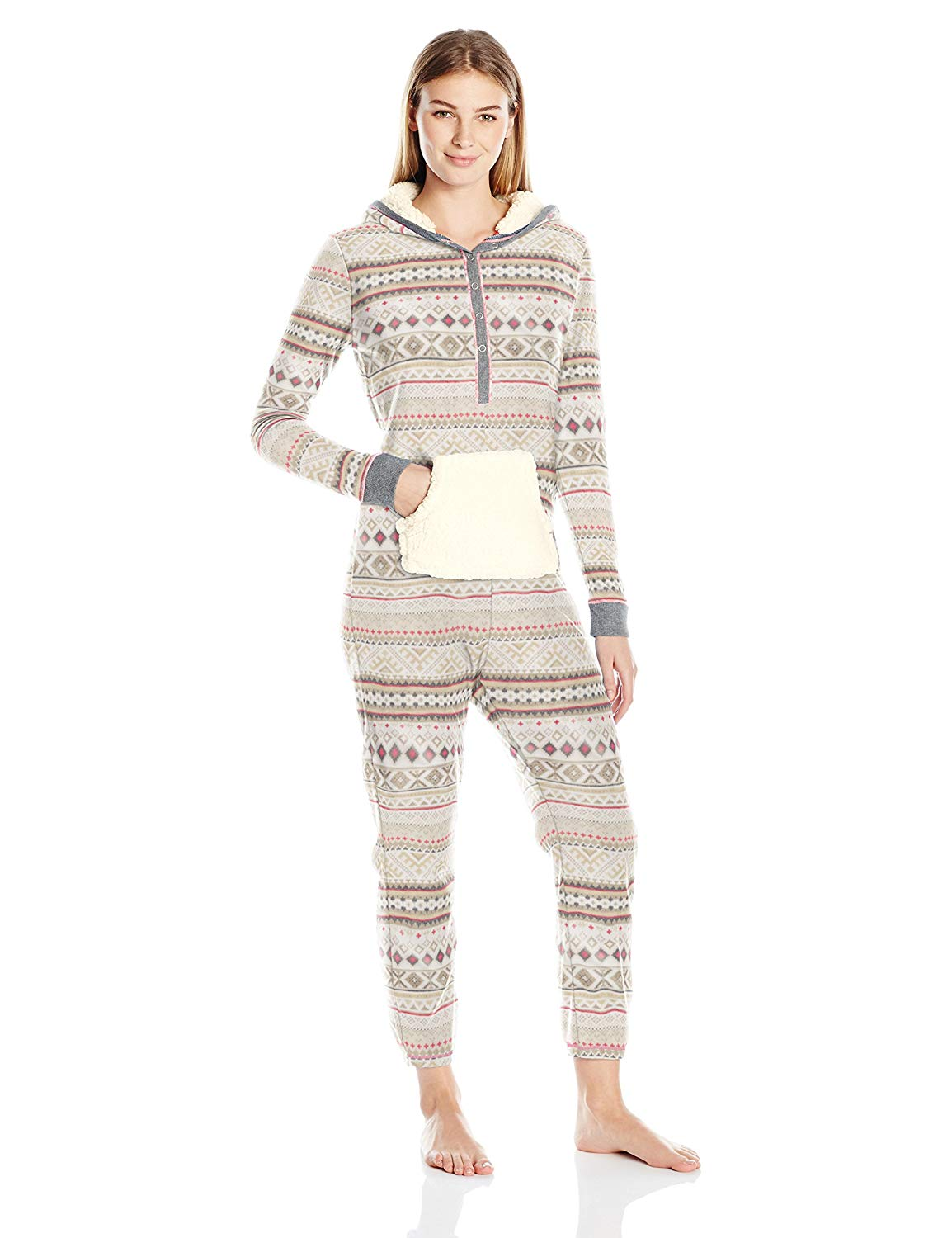 Get Quotations · Layla Women s Microfleece Hooded Animal Onesie e4f0821fc