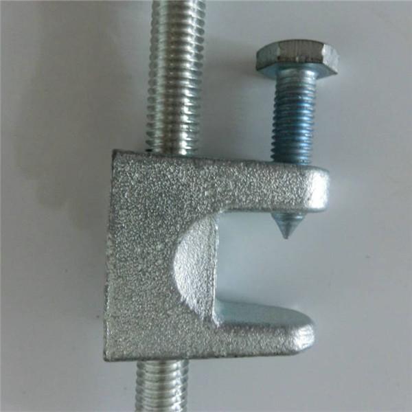 Beam clamp pipe hanger c type throat opening