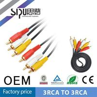 SIPU high quality 3RCA to 3RCA hdmi to 5 rca component av cable with usb connector