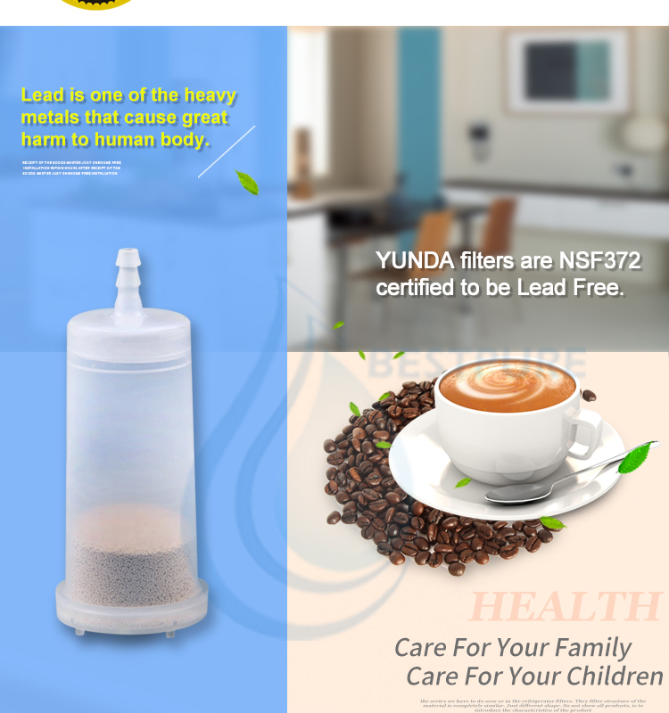 Factory price reusable custom water replacement cartridge coffee machine filter for BAC208