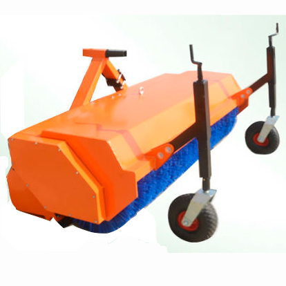 PTO driven tractor mounted road sweeper with CE