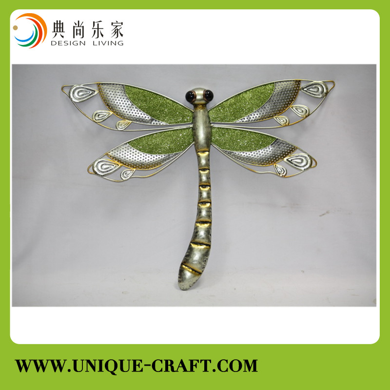 Metal wall decor arts dragonfly shape for home decorations