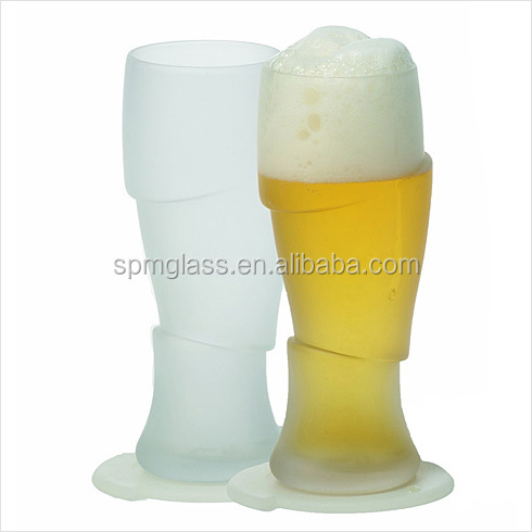 Custom Blown Size The Coolest Stuff Drinking Sliced Beer Glass
