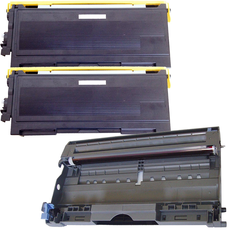 (1Drum+2Toner) Inktoneram Replacement toner cartridges & drum for Brother TN350 DR350 DR-350 TN-350 IntelliFax 2820 2910 2920 MFC-7220 MFC-7225N MFC-7820N MFC-7420 HL-2030 HL-2040 HL-2070N DCP-7020