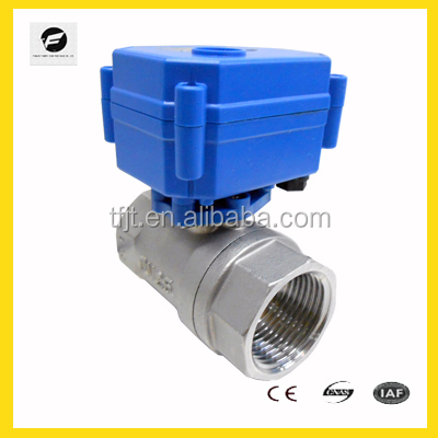 motorized mini ball valve electronic control for household water project system