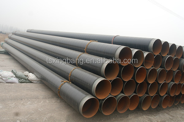 Hot selling Q235B spiral steel pipe with epoxy coal tar coated pipeline system instead of PVC pipe