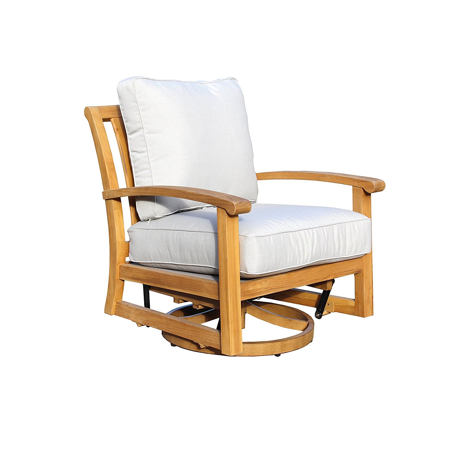 Courtyard Casual Natural Heritage Outdoor Teak Swivel Chair