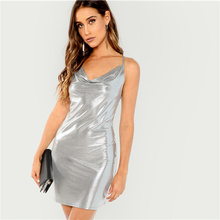 b08ea73b73fe2 Buy metallic silver dress and get free shipping on AliExpress.com