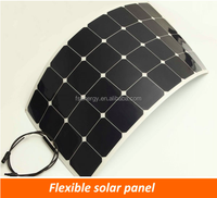 Hot Sale high efficiency 50W 60W 80W 100W 120W 150W 200W 250W 300W Flexible Mono PV Solar Panel, Flat Solar Panel System