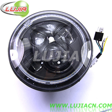 Newest Generation (G3) 7 inch Round LED Headlight 12-24V Jeep Wrangler 7'' CREES 45W H4 H13 High/Low Beam LED Headlight