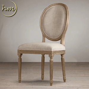 French Style Round Back Painting Design For Dining Cafe Chair
