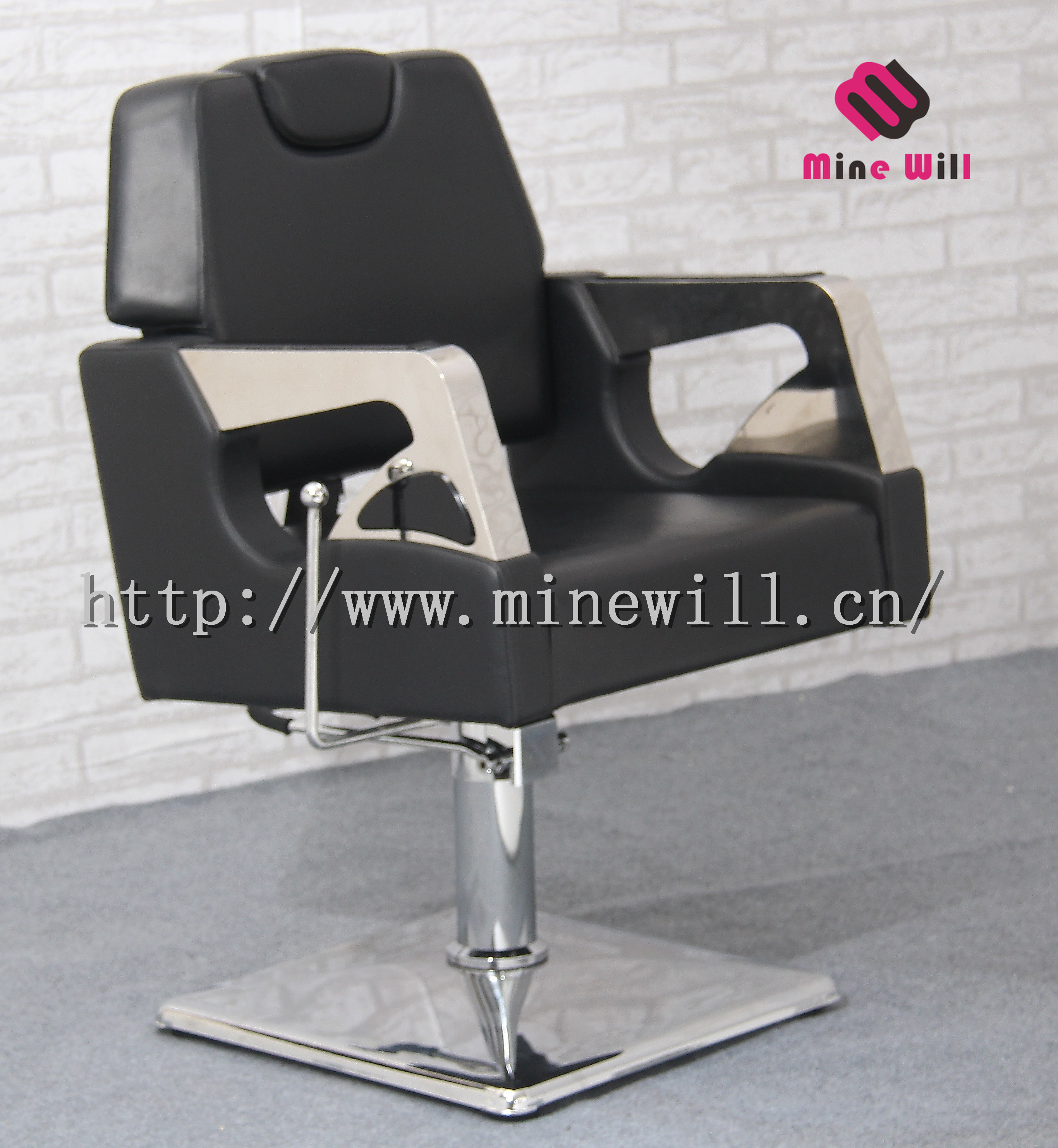 Spacious Barber Chair Salon Beauty Furniture Reclining Styling Chair