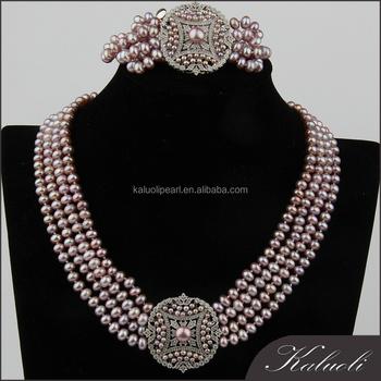 Fashion Wedding Jewellery Designs Heavy Pearl Necklace Set