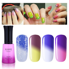 iLuve Thermal Couleur Changed gel nail polish Soak off Curling Light Chameleon nail polish shiny gloss
