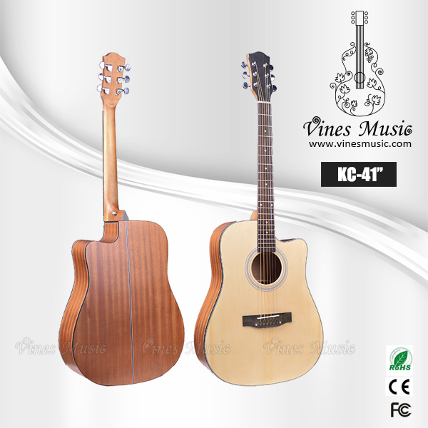 41inch acoustic guitar stock guitar no brand & customize brand guitar