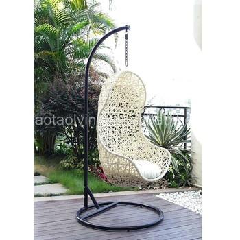 Aluminum Frame Garden Outdoor Furniture Sofa Set, Steel Frame Rattan Swing,  Garden Hanging Chair