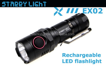 StarryLight EX02 2016 newest xm-l2 u2 USB charging rechargeable led flashlight torch