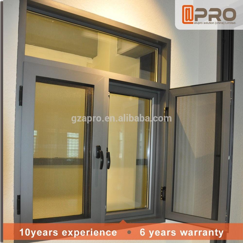 Jardín diseño de aluminio perfil del marco ventanas cristal doble ...
