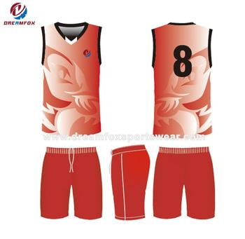 88fa965c6 Men china cheap youth reversible basketball jersey uniforms red new design  custom