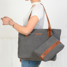 Canvas Tote Leather Straps 786a94dc6547