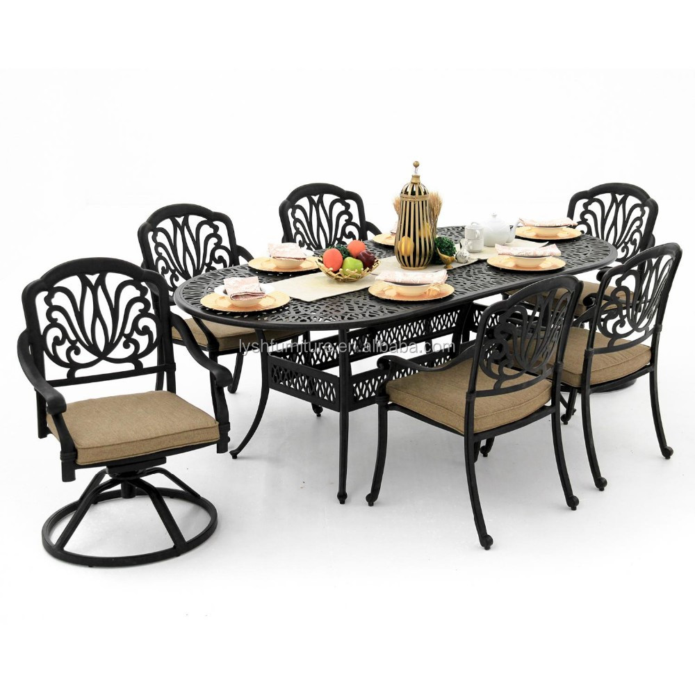 Rosedown cast aluminum outdoor furniture table and chairs aluminum bistro table and chair