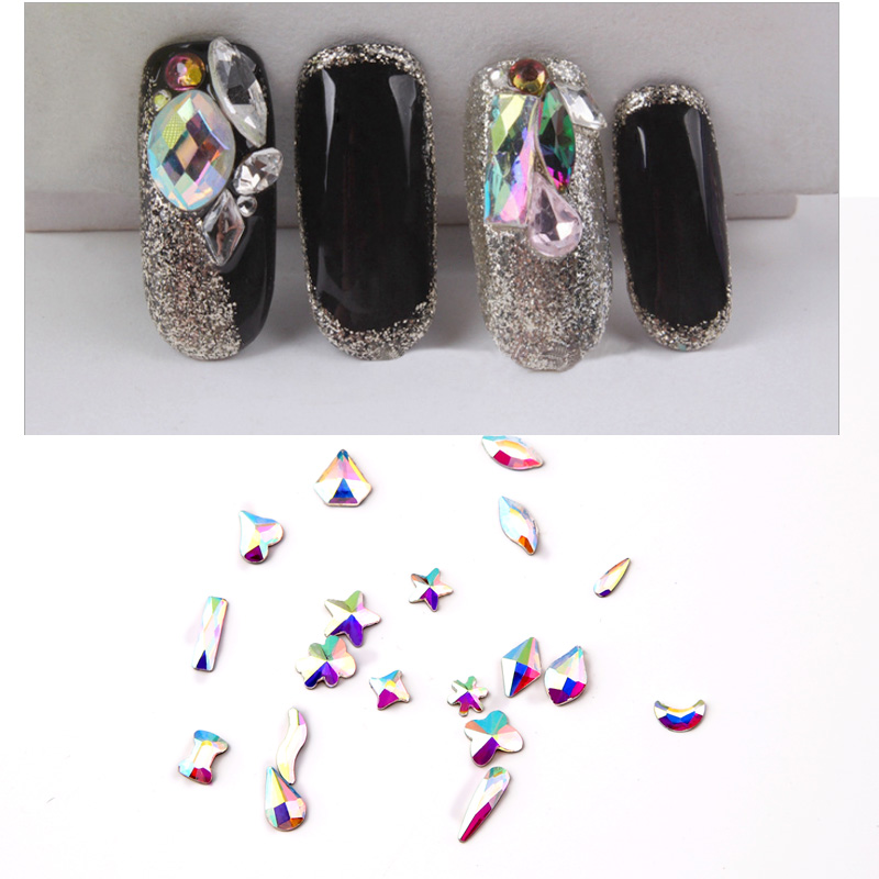 Wholesale Nail Art DIY 18 Style Mix Crystal Decoration Flatback Drill High Quality Mini 3D Shiny Colorful Rhinestone