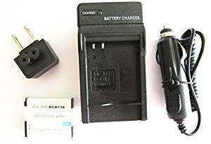 JIOOYEE Battery + Charger For Panasonic Lumix DMC-ZS35K DMC-ZS35W DMC-ZS40K DMC-ZS40S