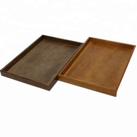 Handicraft decorative serving tray wood