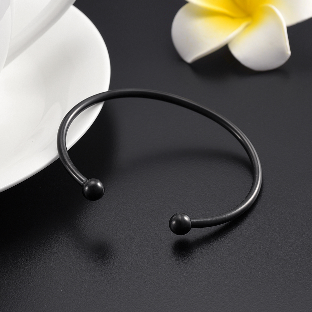 Black Punk Screw Love Bangle gold color Mens Bracelet Couple Jewelry Stainless Steel open Bracelets Bangles