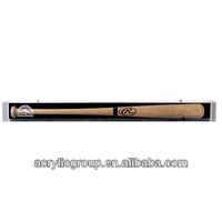 Manufacturer supplies acrylic baseball bat wall mountable display case