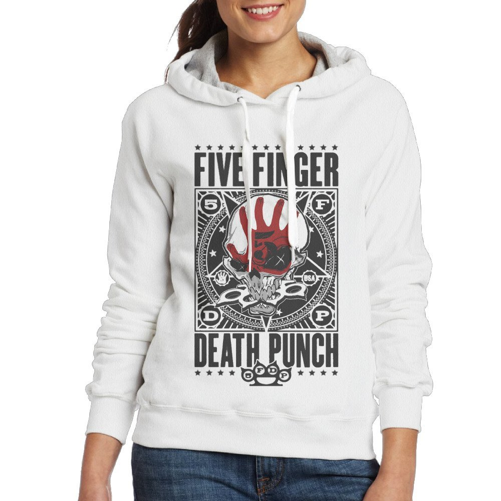 IcyHot Women's Hoodies Five Finger Death Punch Punchagram White