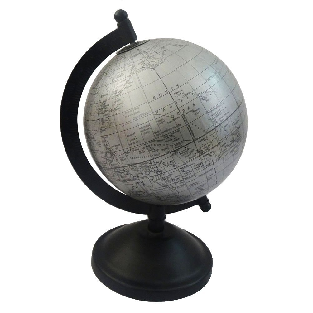 """Get Quotations · World Map Globe Antique Style Round Shape 5"""" Grey Ball 8""""  Tall Standing Table - Cheap Antique Desk Globe, Find Antique Desk Globe Deals On Line At"""