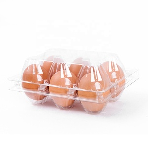 Transparent customized packing hot sale quail folding disposable separate blister plastic egg tray