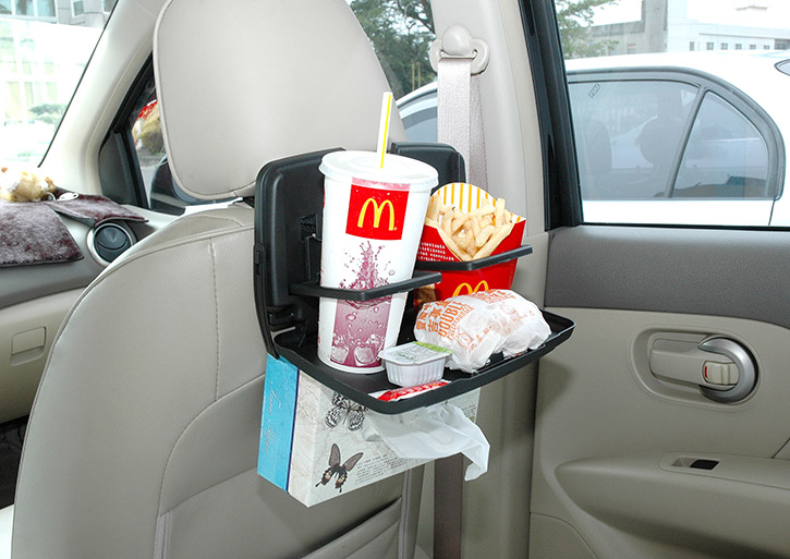 HPA520 Car Travel Food Meal Cup Drink Dining Tray Plate Back Seat Table car accessories interior / car seat back table