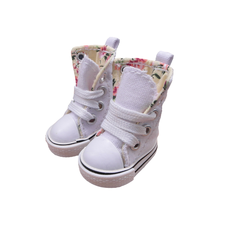 cdd59f31130bc Tilda 5cm Shoes For Dolls BJD Toy Casual Boots 1/6 Gym Sneakers for EXO  20cm Korea KPOP Plush Dolls Accessorries 5 Pais Mixed
