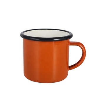 1.Amazon Hot FDA Approved Cafe customized 12oz enamel camping mug