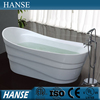 HS-B527 Chinese small oval resin two side ceram freestand bathtub