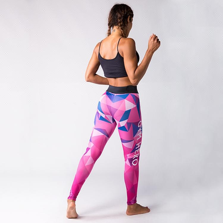 Leggings eng für Frauen rosa Camouflage Print Mode Leggings Fabrik