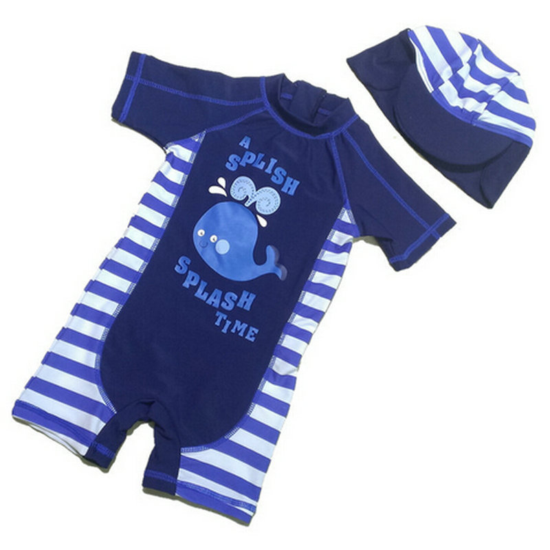 1e4174db6c Hot Sale Dark Blue Boys Professional UV Swimwear 2015 New European Style  One Piece Surf Swimsuit