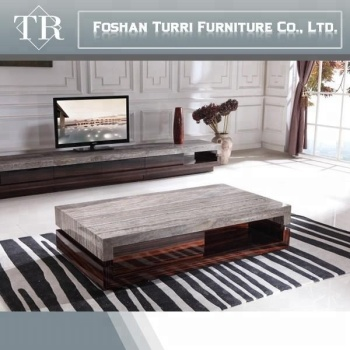 Modern Marble Top Wooden Center Table For Living Room