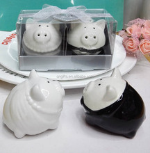Ywbeyond porcelain pig couple salt pepper shakers wedding showers party favors and door gifts for guest